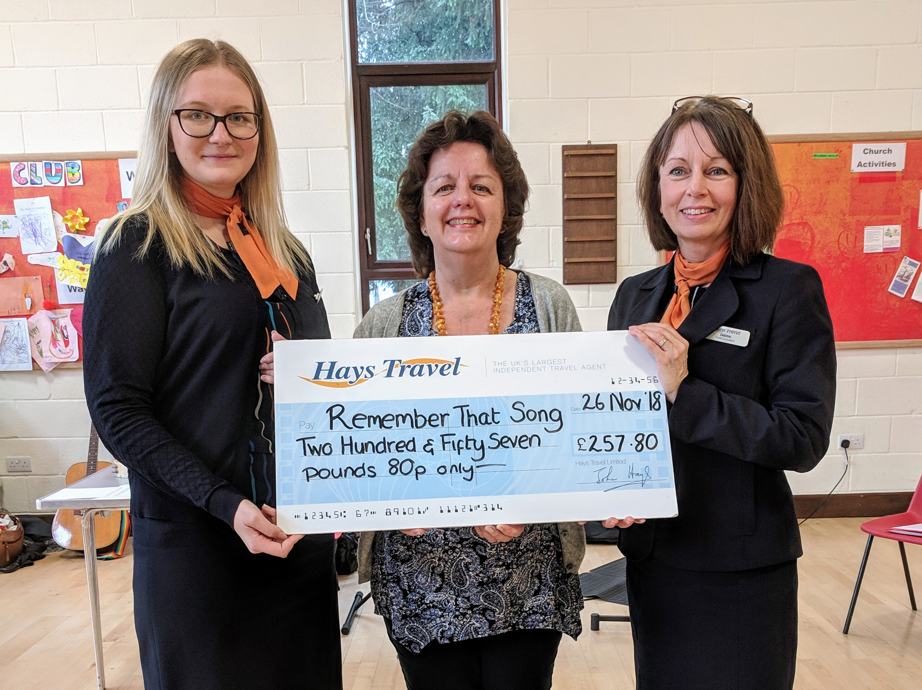 Hays Travel Donation